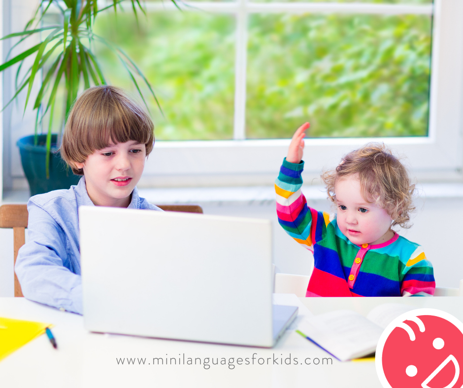 Children at a laptop. Different learning styles